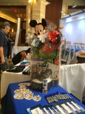 This was my first stop! #Disney booth!