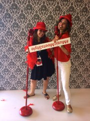 Con Andrea Vitteri at the Target booth #MusicMeetsStyle