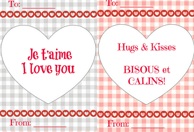 free french valentines day card printables