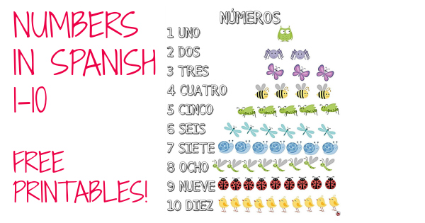 This is a graphic of Free Printable Numbers 1-10 for handwriting written