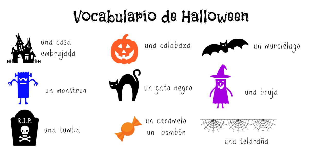 Raising Bilingual Kids: Halloween Printables in Spanish