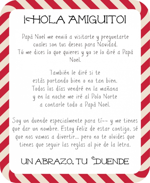 How to Introduce Elf on the Shelf in Spanish {free letter ...
