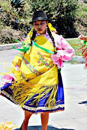 folkloric dancing in Ecuador