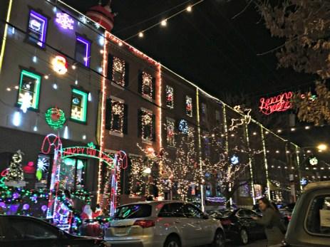 Holiday lights Philadelphia