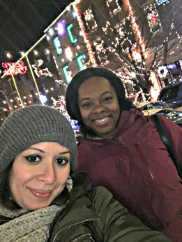 holiday lights Philly girls escapade