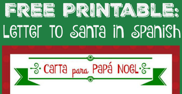 Free Printable Letter to Santa in Spanish!