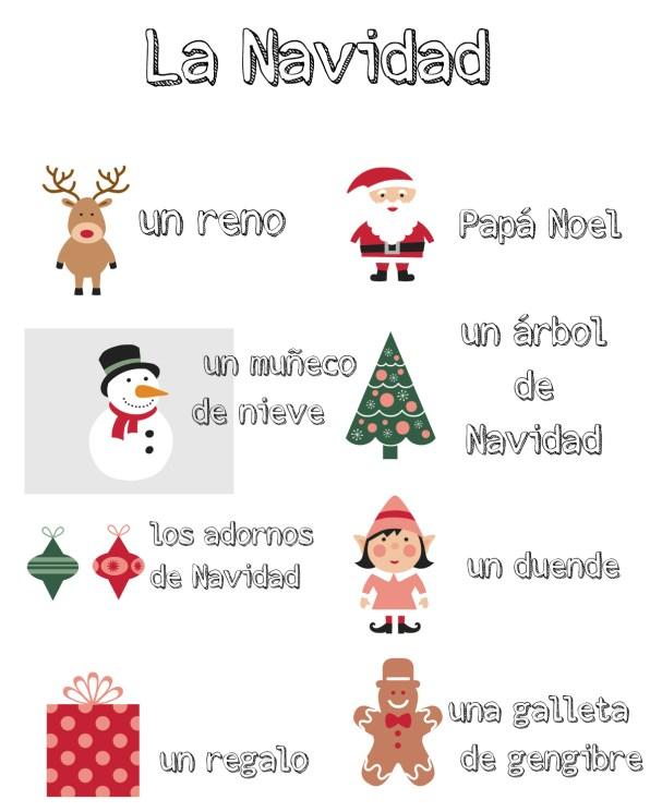 vocabulario de Navidad