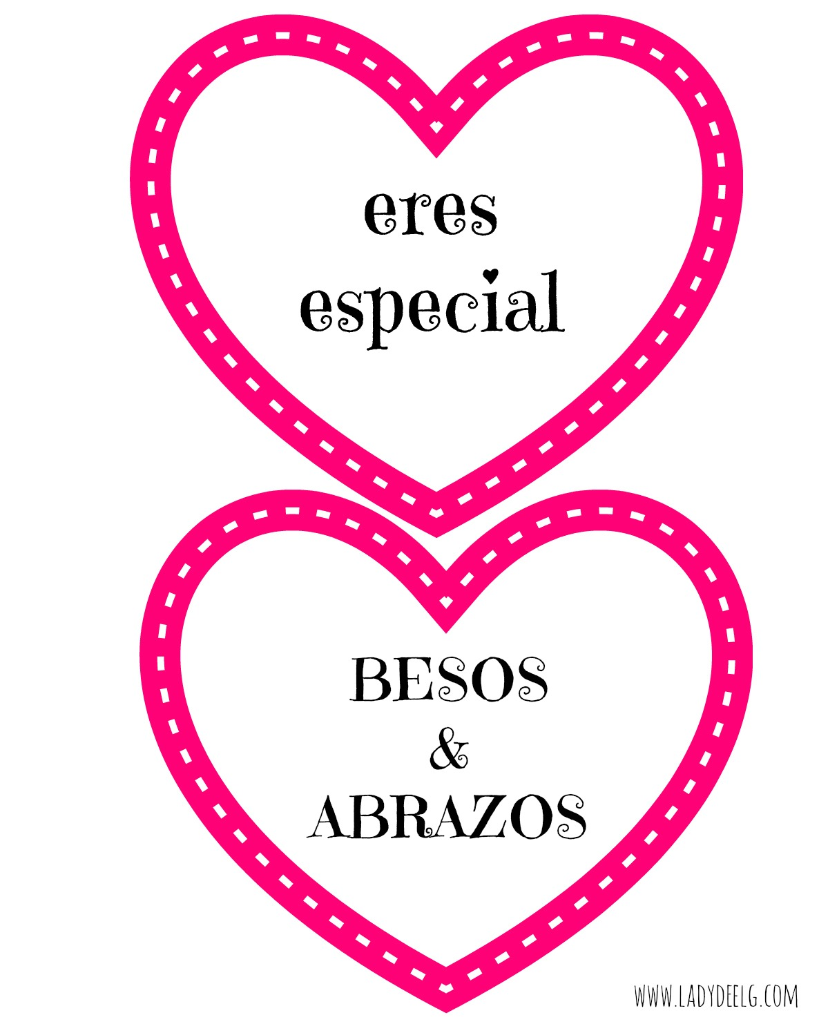 Spanish Valentines Day Printable Hearts