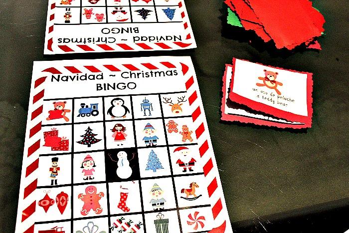 Free Printables: Bilingual Christmas Bingo