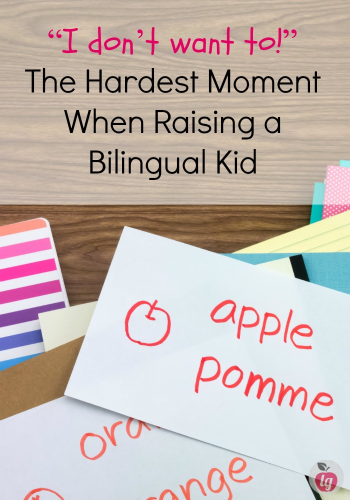 "The hardest moment when raising a bilingual kid is when your child says ""I don't want to!"" (Speak another language). Here is my experience and some tips."