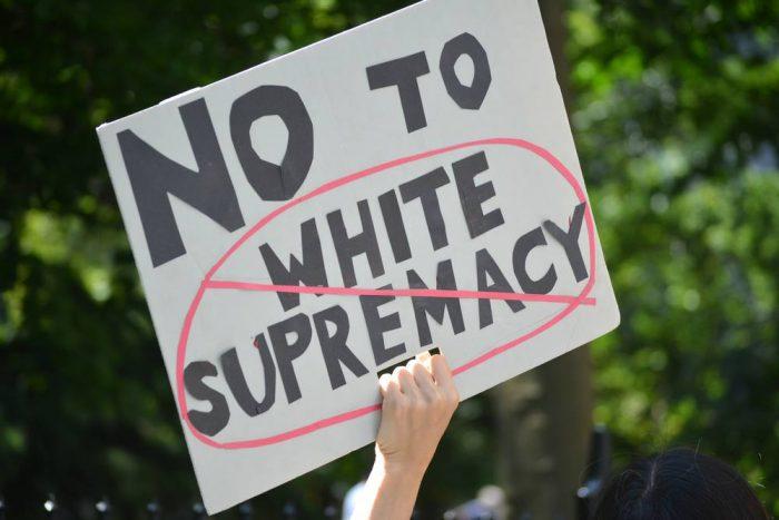 no to white supremacy
