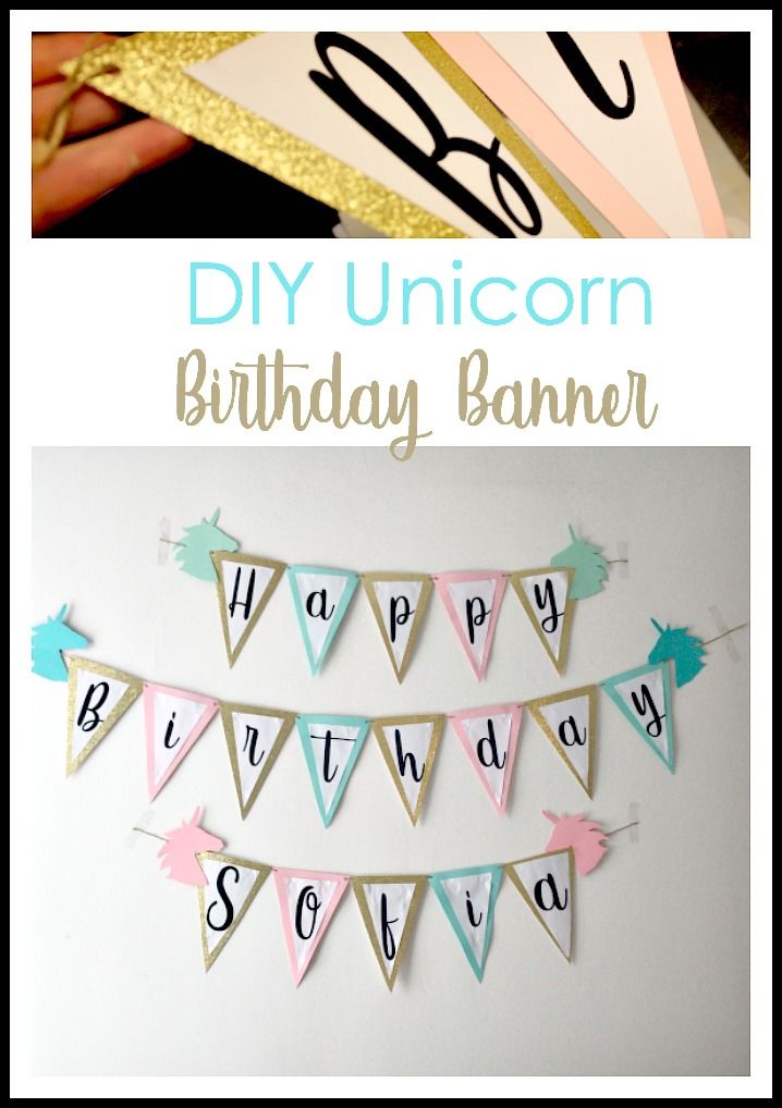 DIY Unicorn birthday banner tutorial