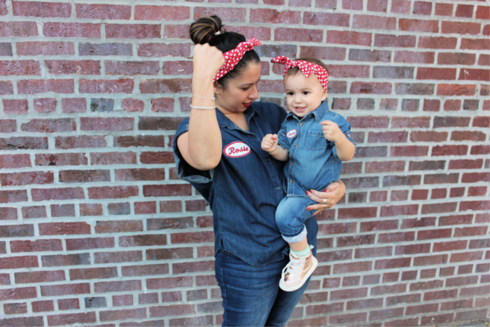 baby rosie the riveter costume