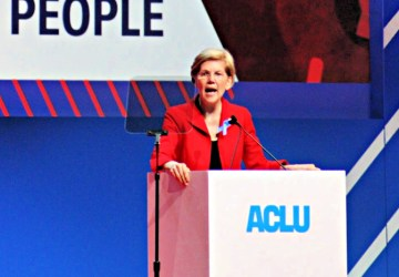 Elizabeth Warren at ACLU Conference 2018-women in politics