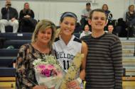 Lauren Farrell with her mom and brother, Kevin