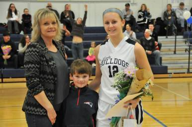 Kallie Morss with her mom and brother