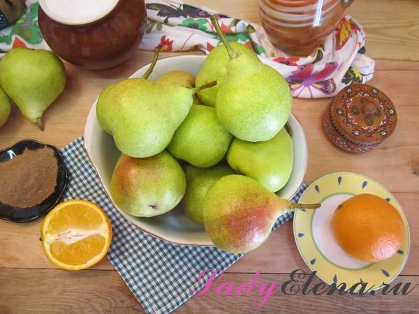 Джем из груш с апельсином