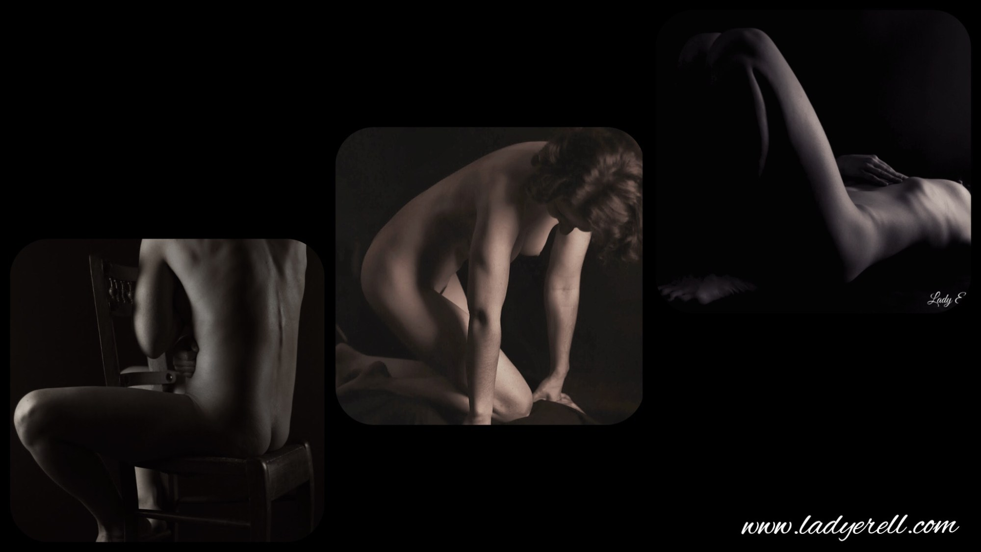 Shooting by Lady Érèll femme nue nude triptyque