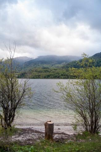 Jezero Bohinj, Triglavský národní park, Slovinsko