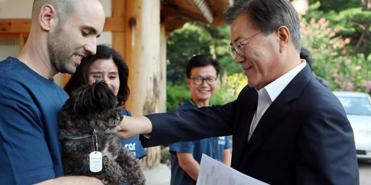 """S. Korea President Adopts Adorable """"First Dog"""" Rescued from Dog Meat Trade"""