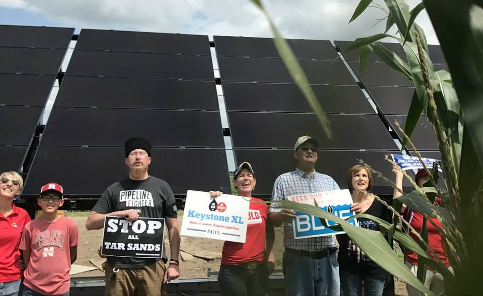 Keystone XL Protesters Build Solar Panels Right in Pipeline's Path