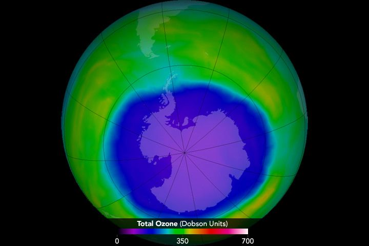 The Hole in Ozone Layer Has Shrunk to its Smallest Since 1988