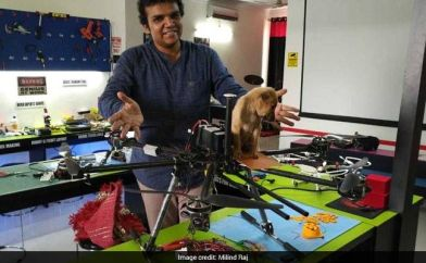 drone rescues puppy