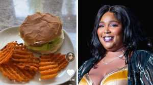 chicken sandwich and musician Lizzo