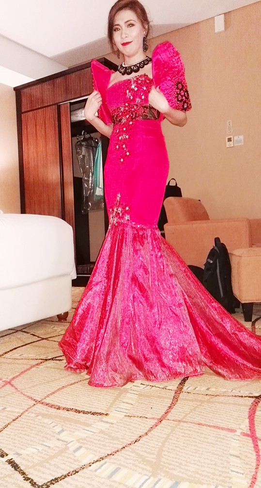 Modern Red Filipiniana Gown  A Simple Journey of Grace