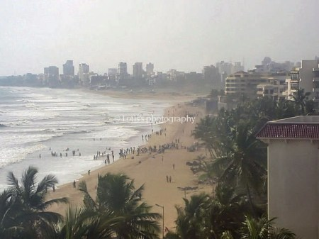 juhu beach view from the hotel