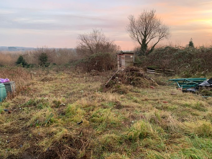 New allotment plot clearance