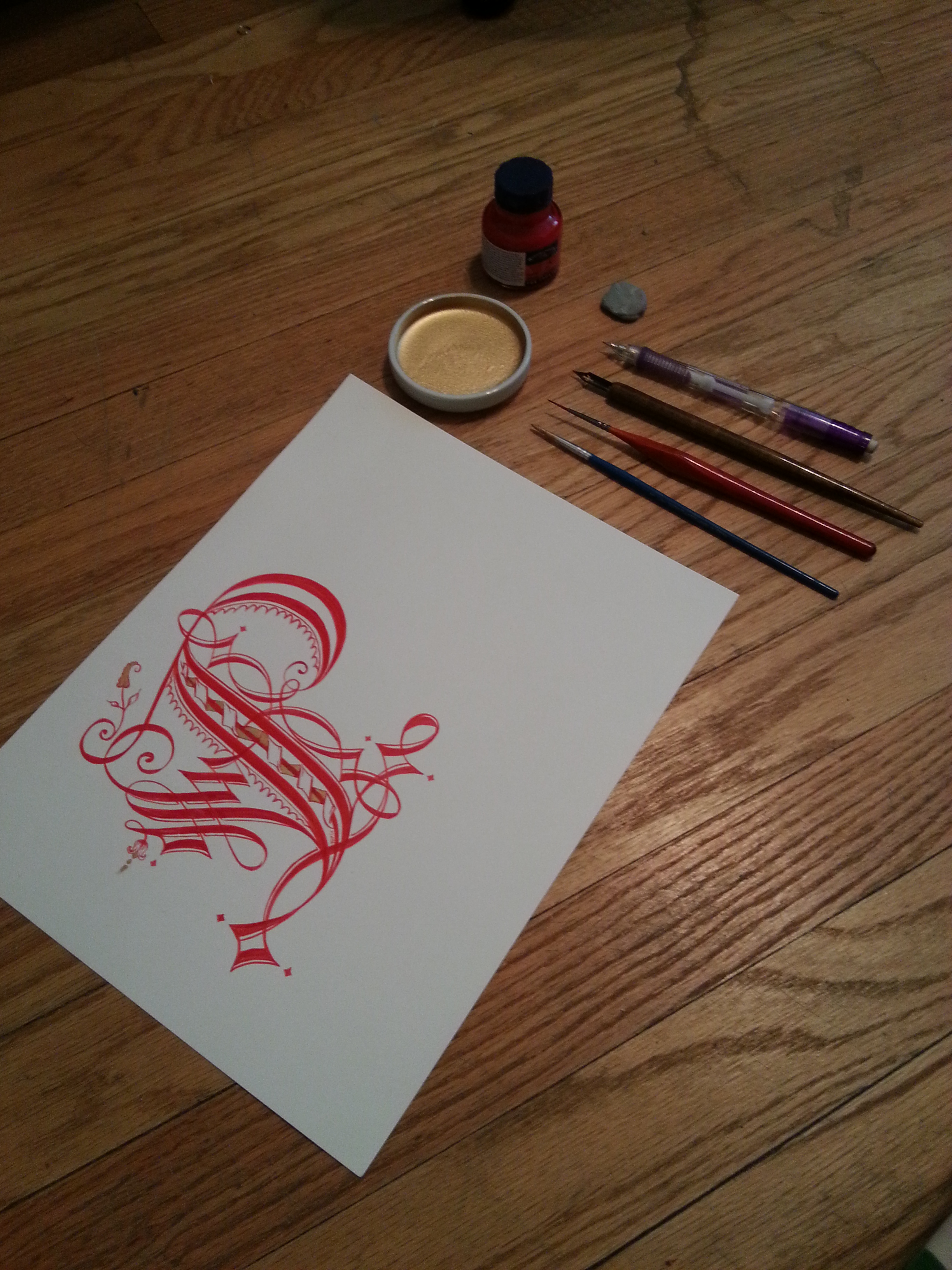 Calligraphy Cadel In Step By Step Photos – Lady Heather Hall