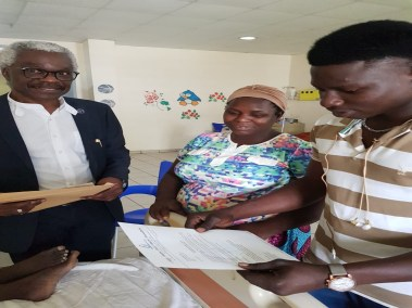 LCHCF CEO Dr. Benjamin Odeka with PTAP Grant Beneficiary's relatives