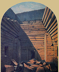 Farrer's drawing of the cairn, 1861