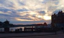 Sunset over the harbor, Oban