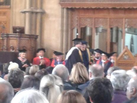 HRH the son's graduation at the university