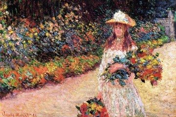 Young-Girl-in-the-Garden-at-Giverny-Claude-Monet