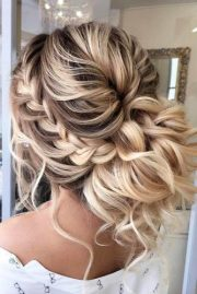 prom updos with braid braided