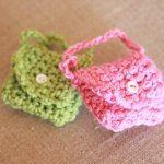 Crocheted Miniature Key Chain Purses