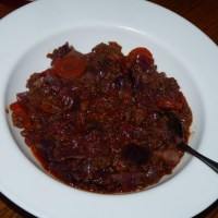 Red Cabbage Crockpot Stew