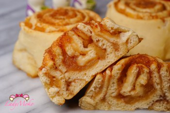 蘋果肉桂捲Apple Cinnamon Rolls食譜 超柔軟麵包配方/少糖少油清爽版