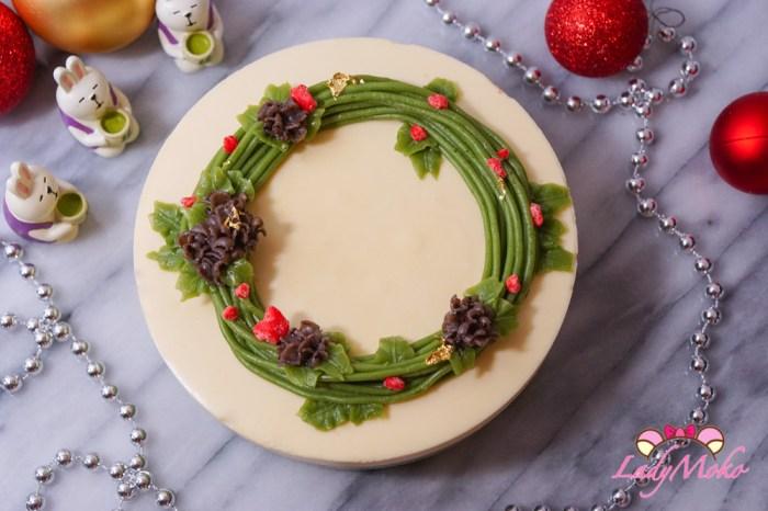 聖誕風法式柚子抹茶慕斯蛋糕食譜 柚子Bavaroise+抹茶Crèmeux+原味Génoise 法式經典食譜