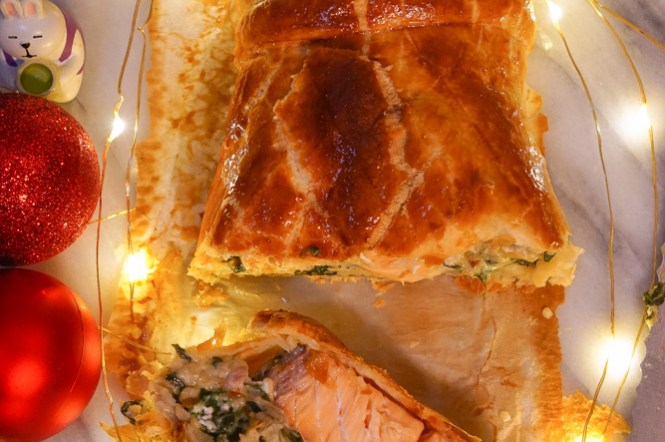 聖誕吃大餐!鮭魚威靈頓Salmon Wellington食譜