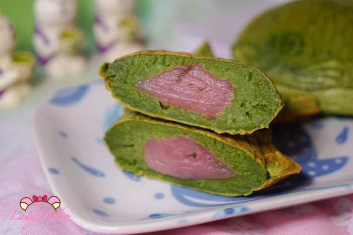 抹茶櫻花餡脆皮麻糬口感濃抹茶鯛魚燒食譜 免鬆餅機免烤箱免瓦斯爐