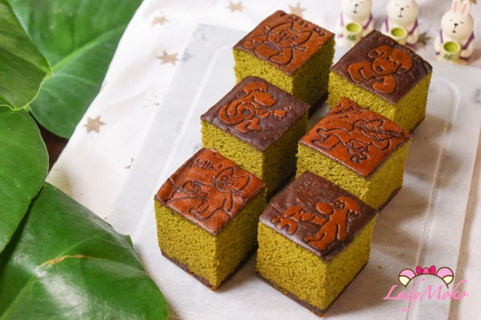 日本De Carnero Caste爆可愛又超好吃抹茶紅豆蜂蜜蛋糕開箱