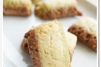 食譜 》無奶油三色旗餅乾。用植物油取代奶油,健康更加分,口感更清爽