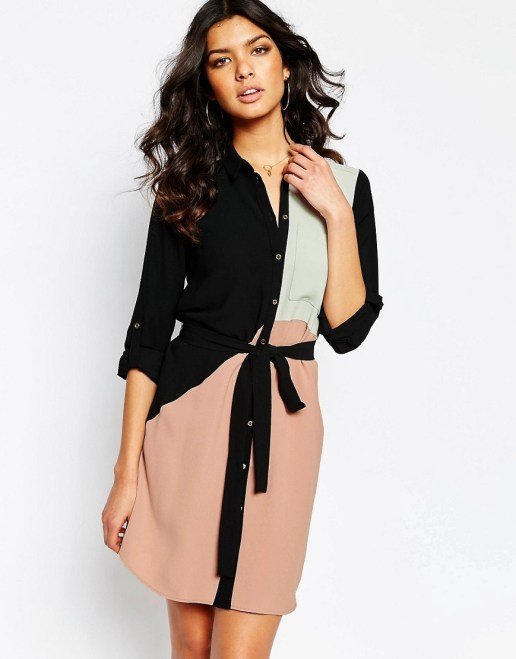 RI Colour Block Dress €77.46 ASOS