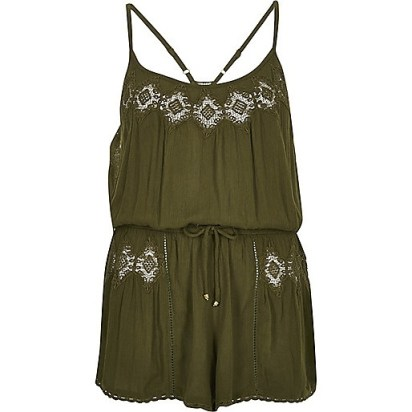 River Island playsuit boho chic