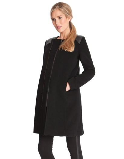 Double Zipped Maternity Coat