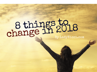 Eight things I plan on changing in 2018